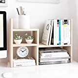 desk organizer wood - Jerry & Maggie - Desktop Organizer Office Storage Rack Adjustable Wood Display Shelf | Birthday Gifts - Toy - Home Decor | - Free Style Rotation display - True Natural Stand Shelf