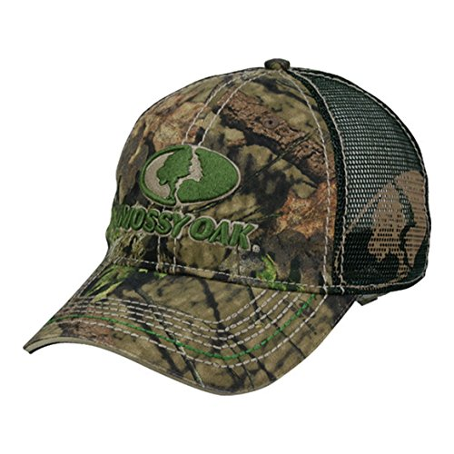 Mossy Oak Country Camo Front Logo Green Mesh Back Hunting Hat ()