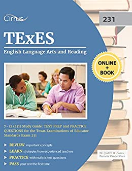 Amazon texes english language arts and reading 7 12 231 texes english language arts and reading 7 12 231 study guide rapid fandeluxe Image collections