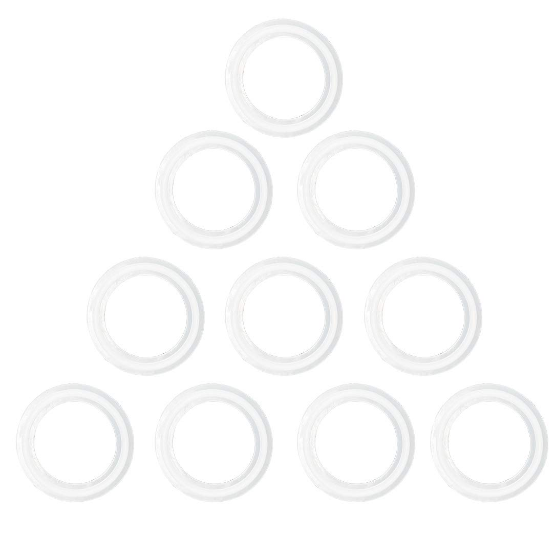 3 INCH QiiMii White Silicon Tri clamp Gasket for Tri Clover Fittings 1//2-4(0.5 INCH-4 INCH)