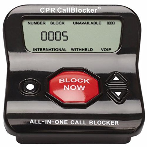 CPR V202 Call Blocker - Block All Robocalls, Political Calls, Scam Calls, Telemarketing Calls, Unwanted Calls On Landline Phones. Block All Nuisance Calls At The Touch Of A Button Using Caller Id