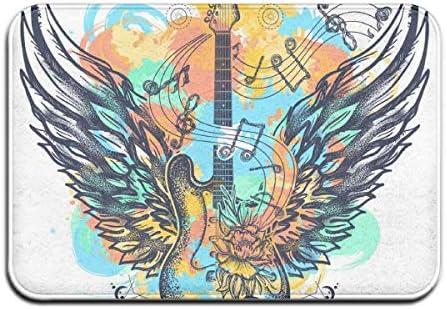 Guitarra y alas Tatuaje Salpicaduras de Acuarela Alfombrillas de ...