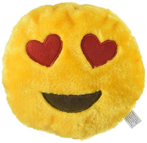 ZippyPaws - Squeakie Emojiz Stuffed Plushie Dog Toy - Heart Eyes