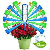 Adjustable Self Watering Spikes.Indoor Outdoor Plastic Bottle Garden Plants Drip Irrigation Spike System. Plant Waterer Care Your Plants and Flowers (12 pcs)