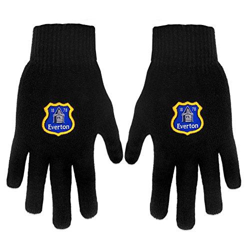 Everton F.C. Official Everton Black Crest Gloves