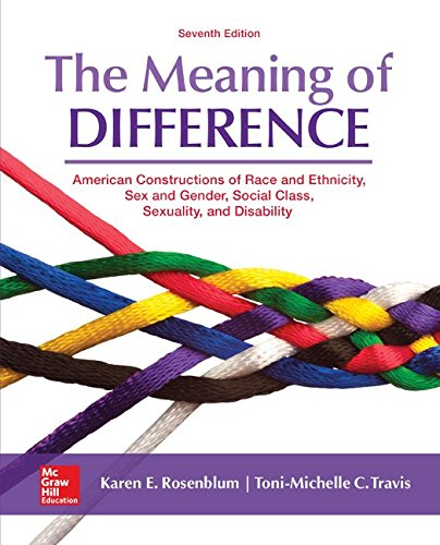 78027020 - The Meaning of Difference: American Constructions of Race and Ethnicity, Sex and Gender, Social Class, Sexuality, and Disability