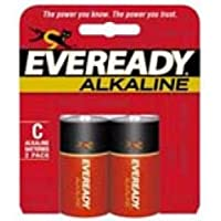 ENERGIZER Eveready C Alkaline General Purpose Battery / A93BP-2 /
