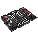 "Specifications: Set with 95 parts Carbon Steel in sturdy plastic case The size of kit:16.5*10.2*3.2inch/42*26*8cm Net weight:8.6lb/3900gPackage includes: 1 x knife 1 x water pump plier 8"" 2 x screwdrivers (+)/(-)6*100MM 1 x diagonal cutting p..."