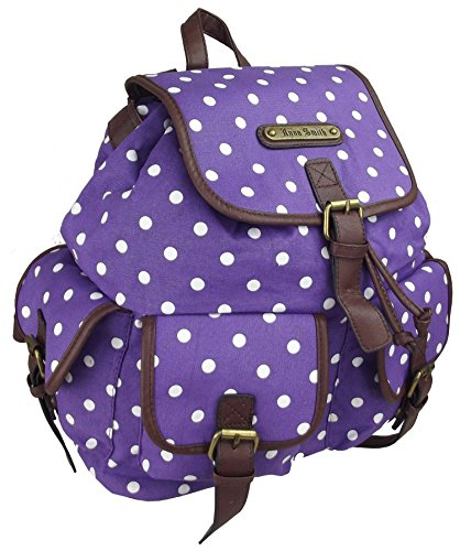 Polka à Dot dos Twin Sac Dot Pourpre Pocket Sac dos Polka à UKFS wtqZvt