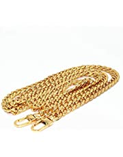 """WEICHUAN 47"""" DIY Iron Flat Chain Strap Handbag Chains Accessories Purse Straps Shoulder Cross Body Replacement Straps, with Metal Buckles (Gold)"""