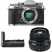 Fujifilm X-T2 Mirrorless Digital Camera (Graphite) w/ XF35mm F2 Black Lens & Vertical Power Booster