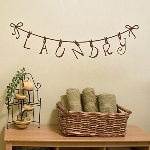 Laundry Clothespin Removable Decal Medium Brown product image