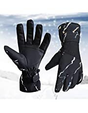 Ski Gloves, Winter Snow Gloves Warm Skiing Gloves Waterproof and Breathable Snowboard Gloves for Men Women Thermal Gloves