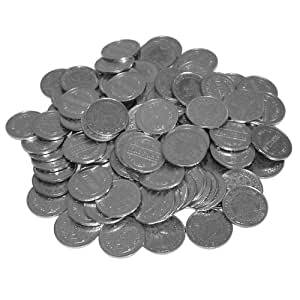 Trademark Poker Refill Tokens, Pack of 1000, Silver (Refurbished)
