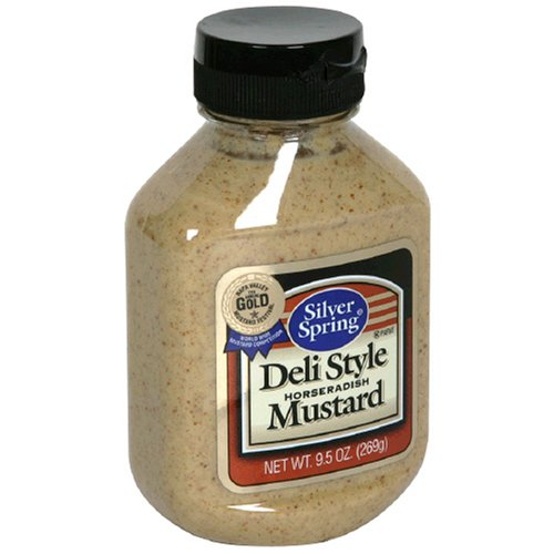 Silver Springs Mustard, Deli Stylet, 9.5-Ounce Squeeze Bottles (Pack of 9)