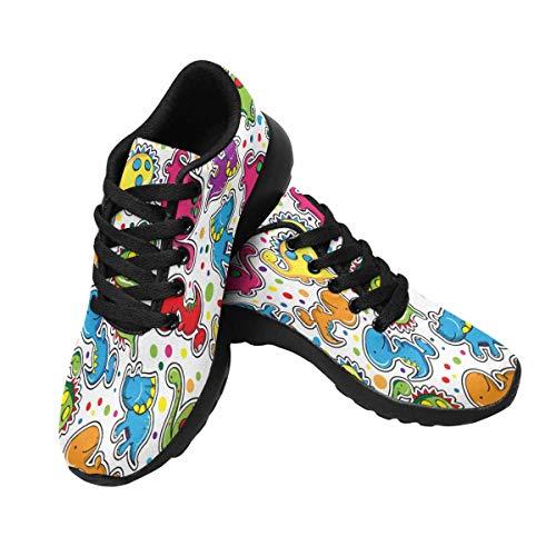 Cute Women's Road Design InterestPrint Dinosaurs Running Sports 4 Shoes ZqXXHn