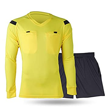eb6b29614 Shinestone Men s Soccer Long Sleeves Referee Jersey Referee Long Shirt ( Yellow