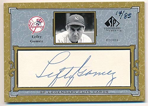 BIGBOYD SPORTS CARDS Lefty Gomez 2001 SP Legendary CUTS Autograph New York Yankees Cut AUTO SP #14/85