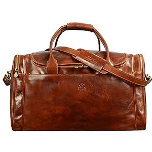 Time Resistance Italian Leather Duffel Bag 15
