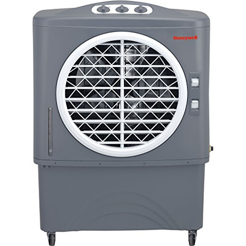 Honeywell CO48PM 1062 CFM Indoor/Outdoor Evaporative Air Cooler, Grey (Heater Swamp Cooler)