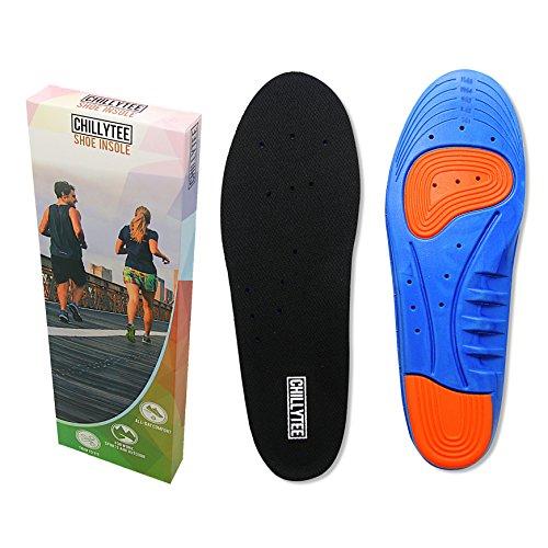 Einlegesohlen für Sport, Arbeit, Alltag - Schuheinlagen für Damen und Herren - Anpassbare Größe (35-40, Schwarz-Blau)