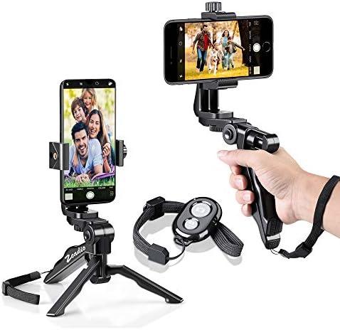 Zeadio Bluetooth Mini Smartphone Tripod Grip Stabilizer, soporte de sobremesa de mesa para iPhone y todos los teléfonos: Amazon.es: Electrónica
