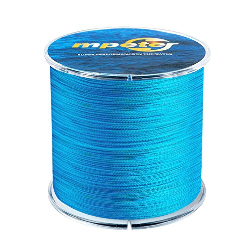 Mpeter Armor Braided Fishing Line, Abrasion Resistant Braided Lines, High Sensitivity and Zero Stretch, 4 Strands to 8 Strands with Smaller Diameter,blue,547-Yard/25LB Best Braided Fishing Line