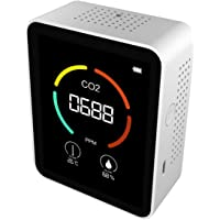 Portable 3 in 1 Air Quality Monitor,Carbon Dioxide Detector,Temperature and Relative Humidity CO2 Meter for Car Indoor…