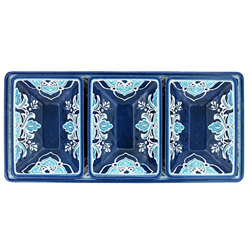 Le Cadeaux Havana 4 Piece Dip or Appetizer Set, Blue by Le Cadeaux