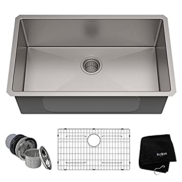 Kraus 30 Rectangular Undermount Stainless Steel Kitchen Sink (KHU100-30)