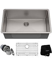 KRAUS Standart PRO™ 30-inch 16 Gauge Undermount Single Bowl Stainless Steel Kitchen Sink
