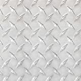 Stillest Peel-N-Stick Aluminium Wall Tile, 12 by 12-Inch, Diamond Tread, Set of 12