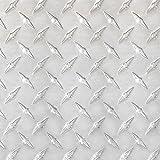Stillest Peel-N-Stick Aluminium Wall Tile, 12 by 12-Inch, Diamond Tread, Set of 12