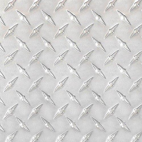 Stillest Peel-N-Stick Aluminium Wall Tile, 12 by 12-Inch, Diamond Tread, Set of - Plate Panels Diamond