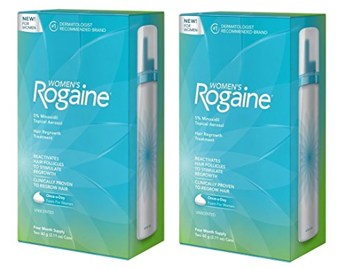 Four Month Supply (2 Pack of Women's Rogaine Foam Hair Regrowth Treatment, 4 Month Supply, 4.22 Ounce)