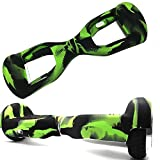 Hoverboard Skin Case Cover Silicone Scratch Protector for 6.5 Inch 2 Wheels Self Balancing Scooter Balance Scooter Black Green