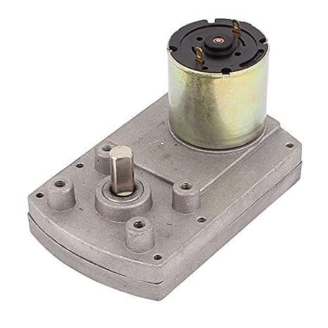 DealMux DC24V 4RPM High Torque Elétrica DC Worm Gear Box Motor redutor de velocidade
