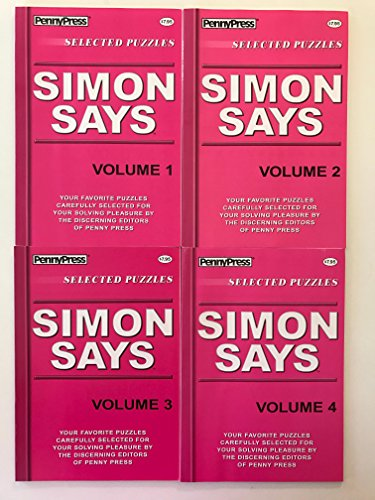 (Lot of 4 SIMON SAYS PUZZLES By Penny Press Selected Puzzles Dell)