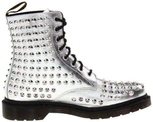 Dr. Martens - Botas de cuero para mujer plateado metálico Plata - plata