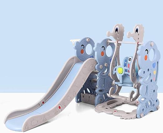 Juguete Infantil Tobogán Multifunción. Columpio Infantil Patio De Jardín Equipo De Juego Al Aire Libre Interior Gimnasio De Plastico: Amazon.es: Hogar