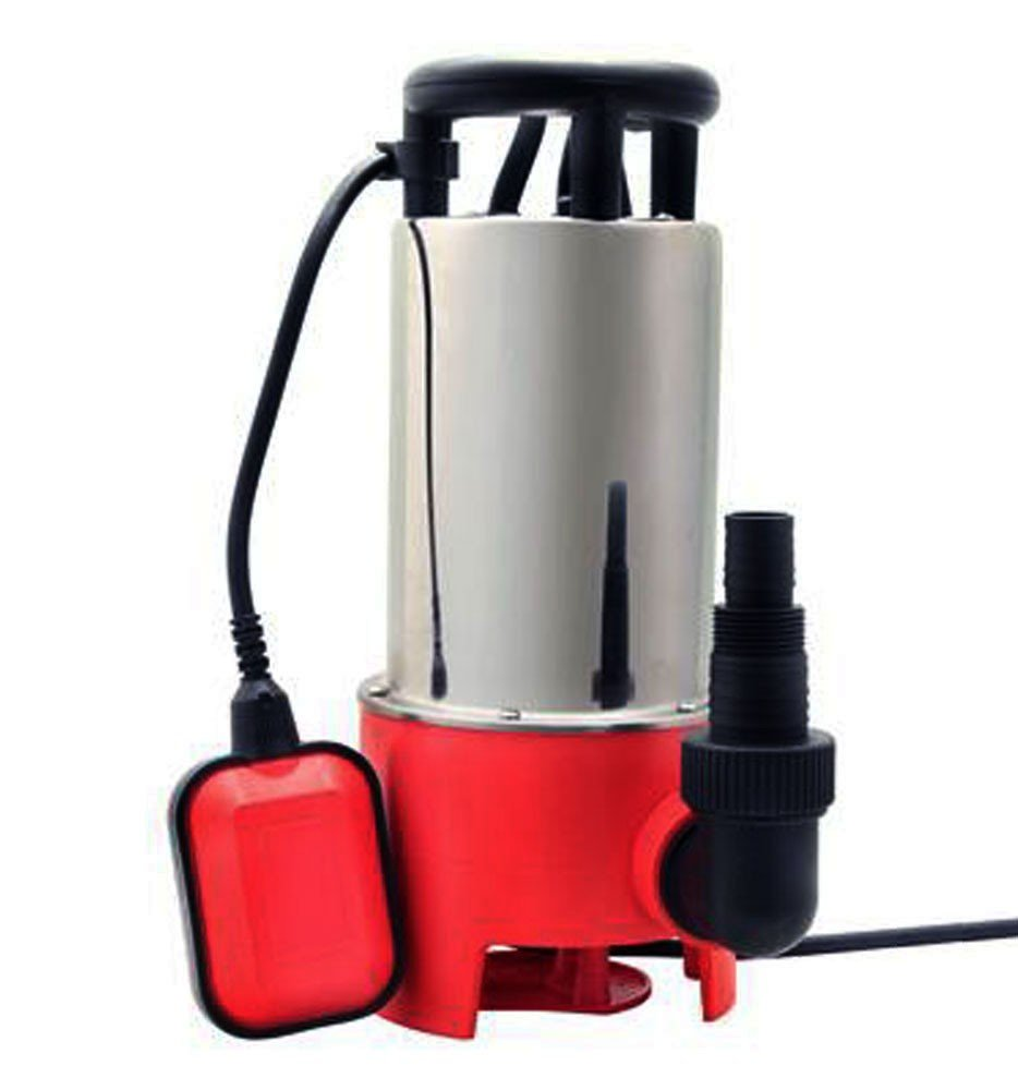 Edelstahl Schmutzwasserpumpe Tauchpumpe Pumpe Gartenpumpe Brunnenpumpe 1100 Watt 20.000 L/H Grafner SW10085