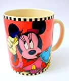 Disney Minnie Mouse Coffee Mug Morning Putting on Makeup Oversized Words Mascara