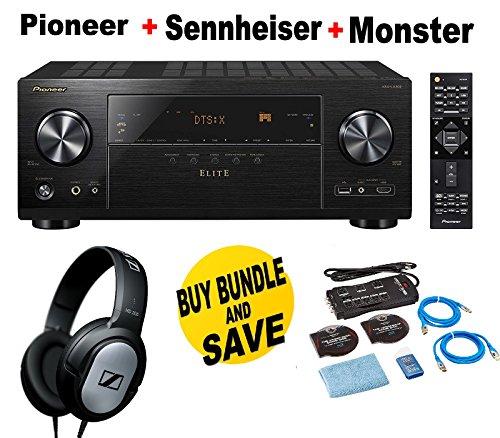 Pioneer-Elite-Audio-Video-Component-Receiver-black-VSX-LX302-Monster-Home-Theater-Accessory-Bundle-SENNHEISER-HD206-Bundle
