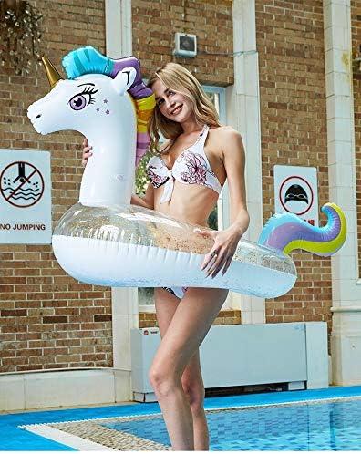 Inflatable Swimming Pool Lounge Float Raft Floatie Water Beach Fun Mermaid Tail