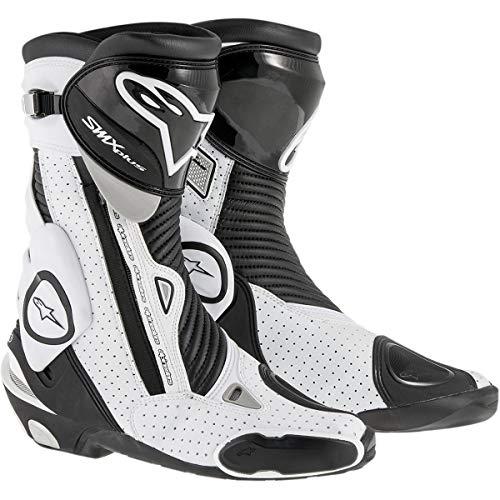 - Alpinestars Men's SMX Plus Vented Boot (Black/White, Size EU 42)