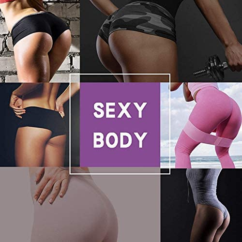 ALLRIER Resistance Bands for Legs and Butt - Non Slip Elastic Exercise Bands Set for Stretching, Strength Training, Physical Therapy, Yoga, Home Equipment Workout Booty Bands for Women/Men (3 Packs)
