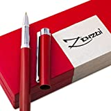 (US) Fountain Pens Set and Gift Case [Million Dollar Red] with Ink Refill Converter - Timeless Classics Collection - Executive Writing Signature Calligraphy Pen For International Cartridges - 100% Warranty