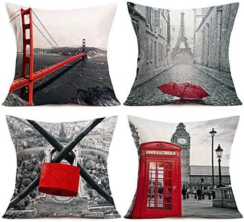Aremetop Vintage Building Pillowcases Decorative product image