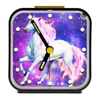 Amazon Com Unicorn Table Desk Alarm Clock Night Light