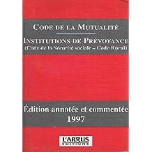CODE MUTUALITE 1997